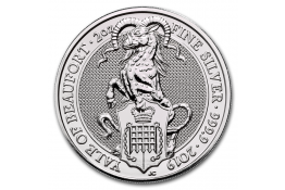 5£ Libras-U.K.-2 oz.-The Yale Of Beaufort-Serie Queen's Beasts-2019