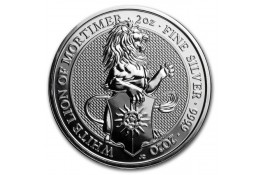 5£ Libras-U.K.-2 oz.-White Lion of Mortimer-Serie Queen's Beasts-2020